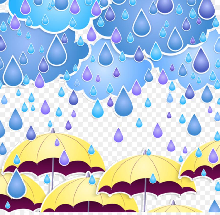 Rain Cartoon Umbrella Wallpaper