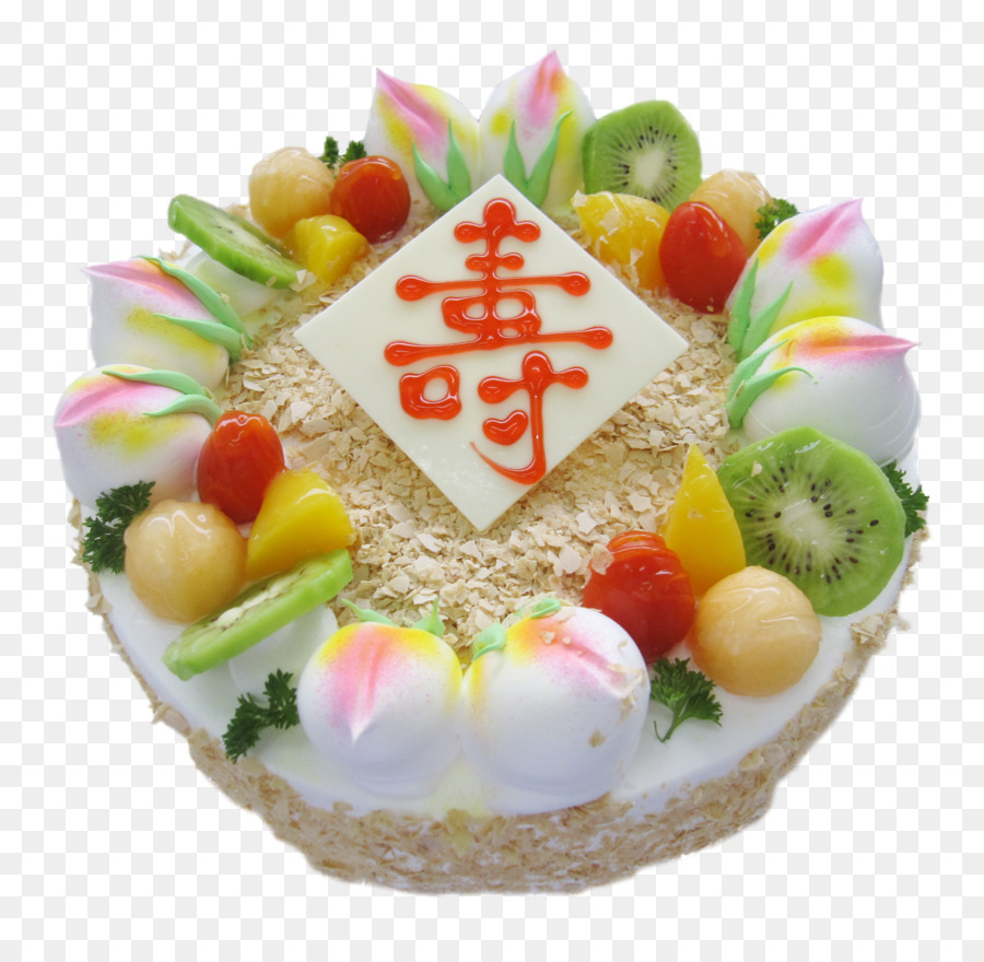 Geburtstag Kuchen Eis Kuchen Backerei Langlebigkeit Pfirsich