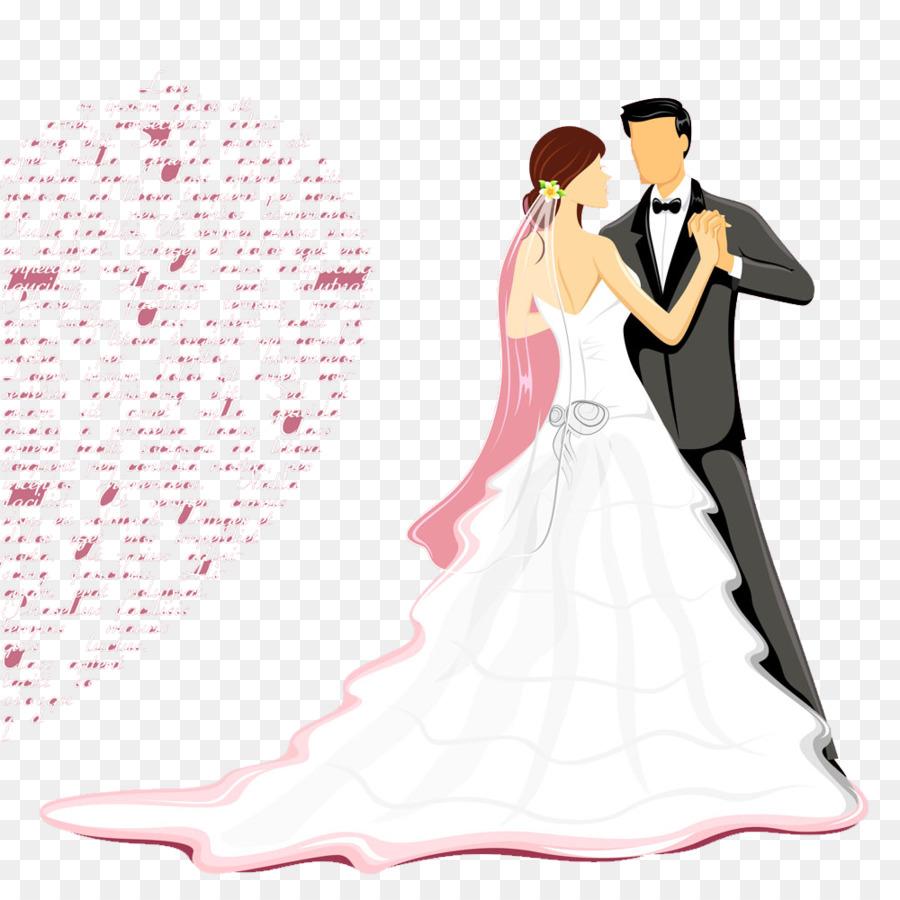 Wedding invitation Wish Happiness Wedding anniversary - Bride and ...