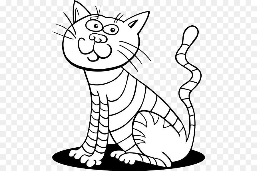 Azul ruso Gatito Dibujo para Colorear libro - Rayas de gato nariz ...