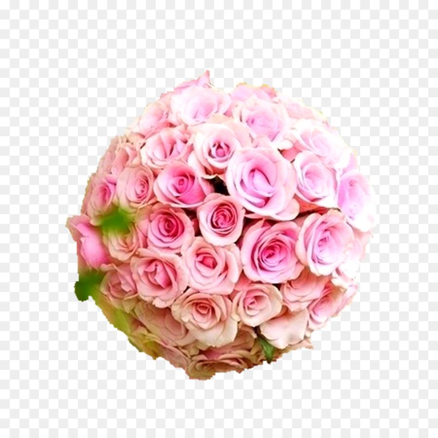 Wedding Flower Bouquet Rose Floral Design Pink Rose Ball Png
