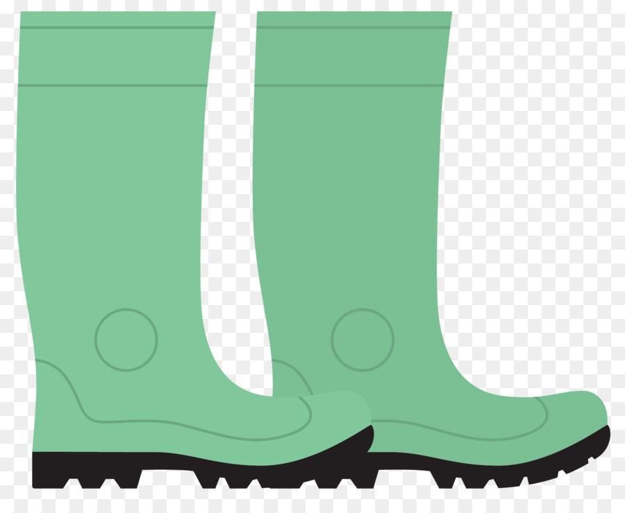 wellington boot vector cartoon green rain rain boots png download