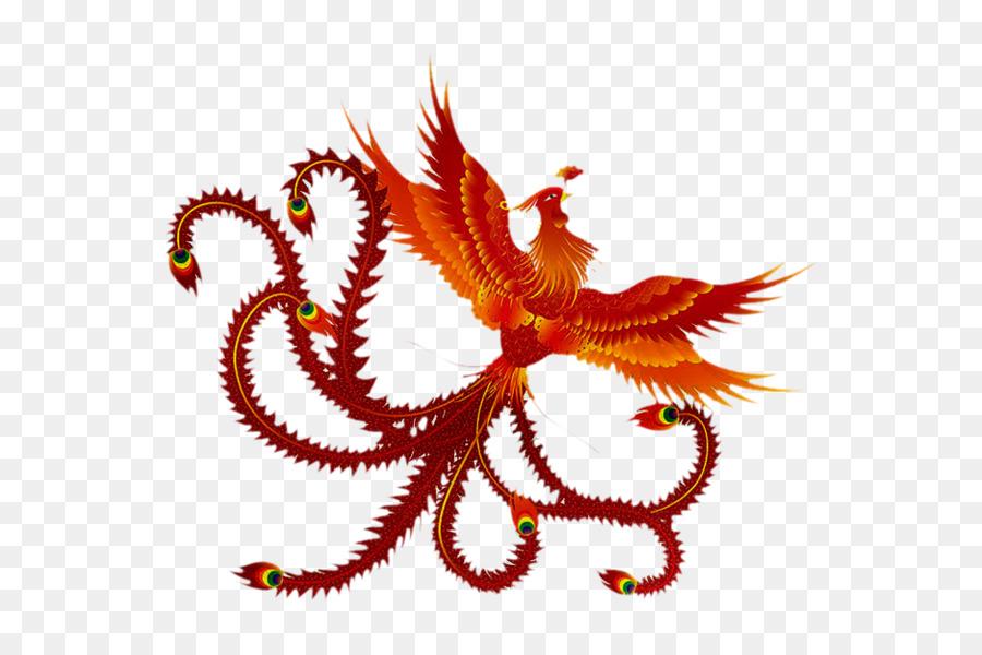 China Phoenix Fenghuang Chinese Dragon Symbol Fire Phoenix