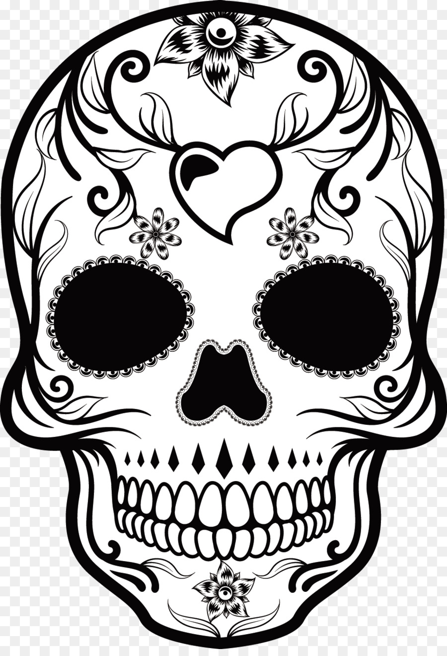 Calavera Mexican Cuisine Skull Day Of The Dead Hand
