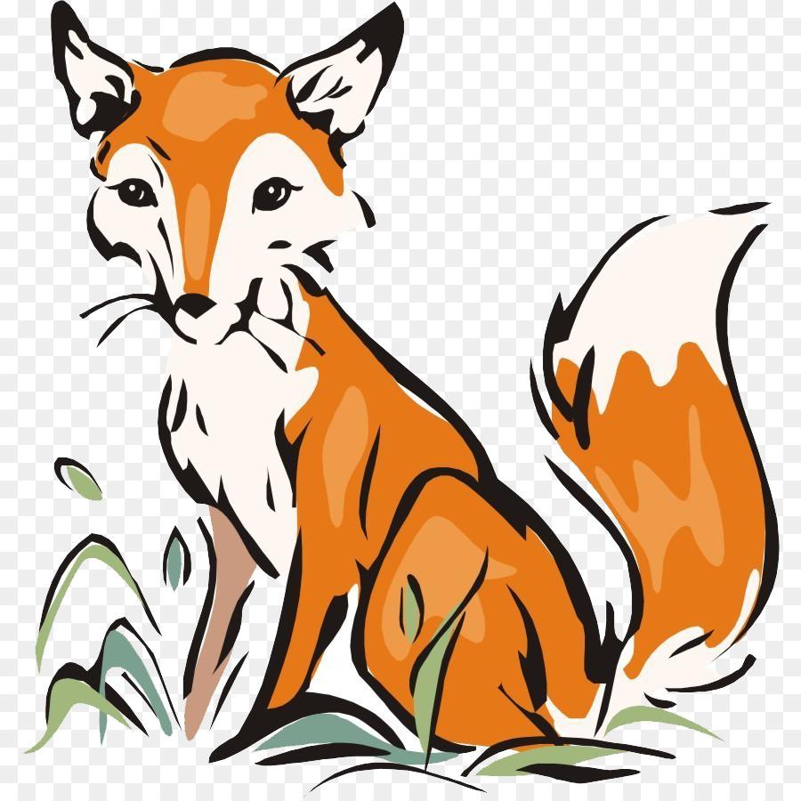 Zorro ártico zorro Rojo para Colorear libro - En cuclillas fox png ...