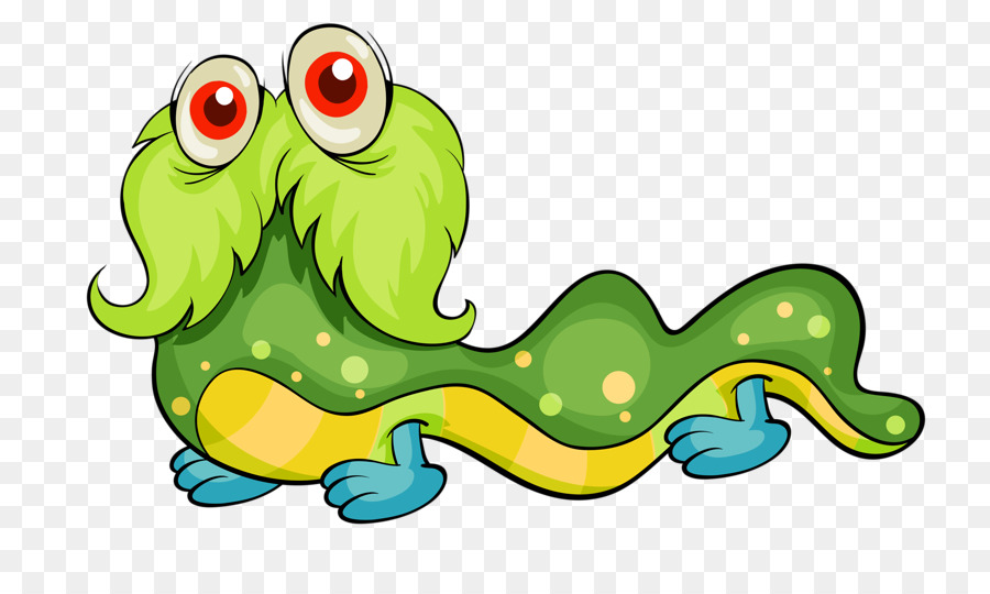 Cartoon Monster Royalty Free Clipart Unverwechselbare Raupe Png