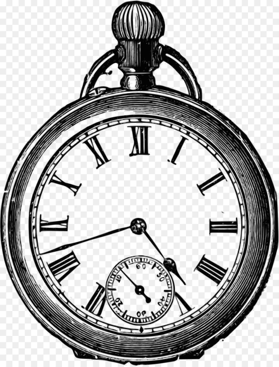 Super De Brevitate Vitae Pocket watch Clock - Vector clock png download  LZ06