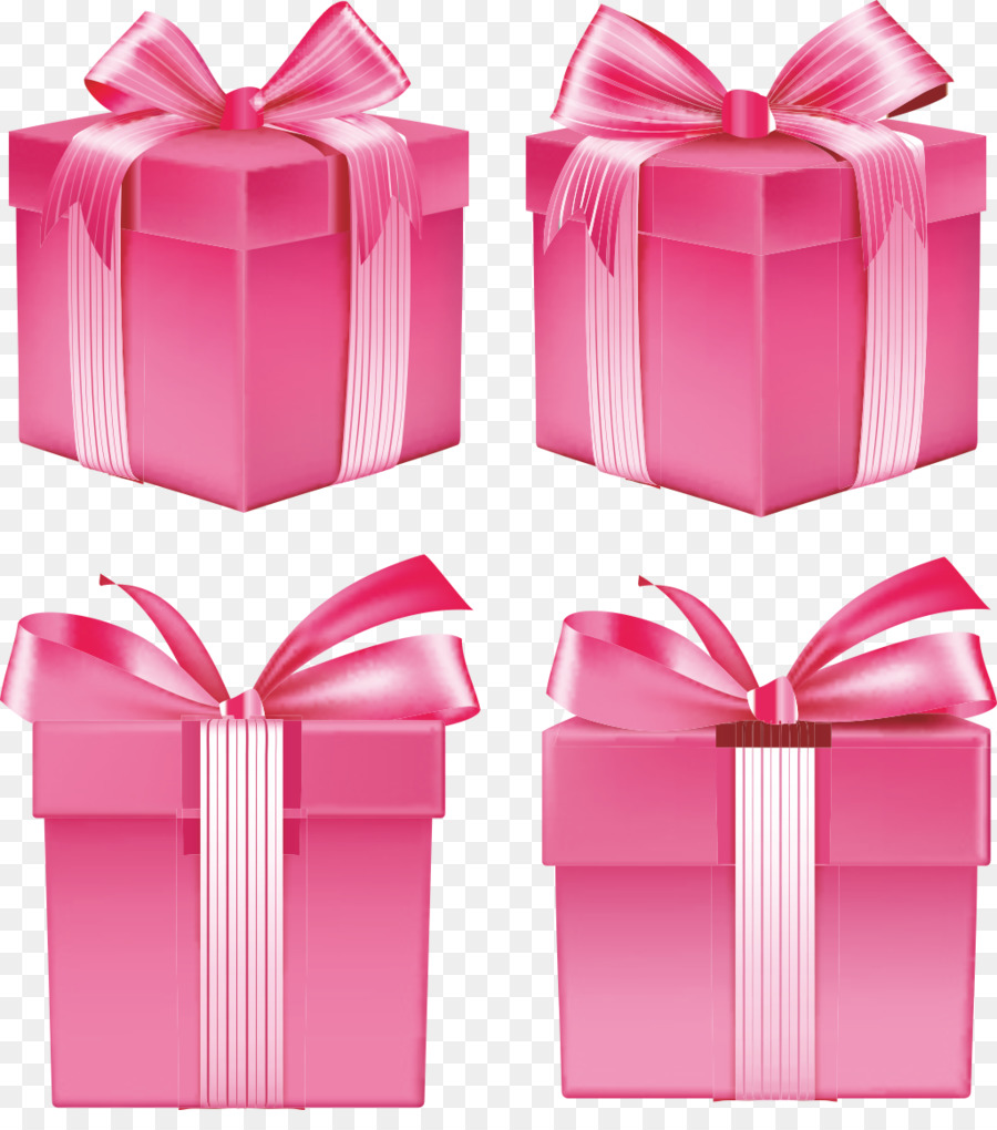 Gift Ribbon Box Pink - Gift png download - 1025*1141 - Free ...