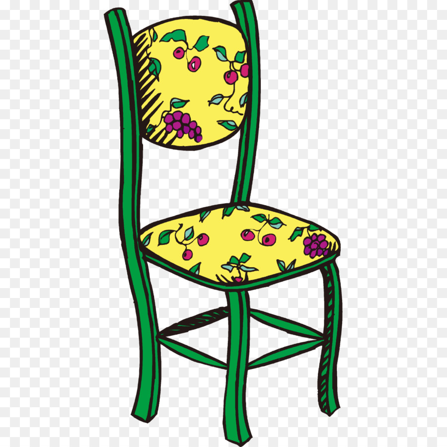 Chair Table Clip Art Retro Pattern Hand Painted Chairs
