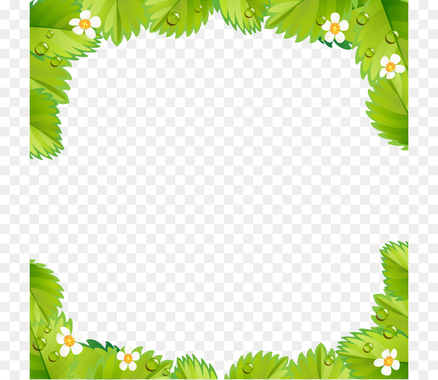 Strawberry pie Shortcake - Green leaf frame background material png ...