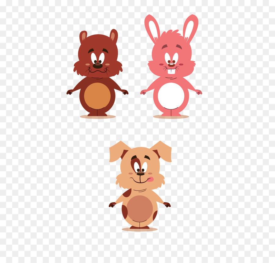 Tupai Kartun Hewan Vektor Babi Merah Muda Hewan Kelinci Unduh