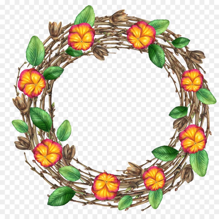 Purple Flower Wreath Png Download 50005000 Free