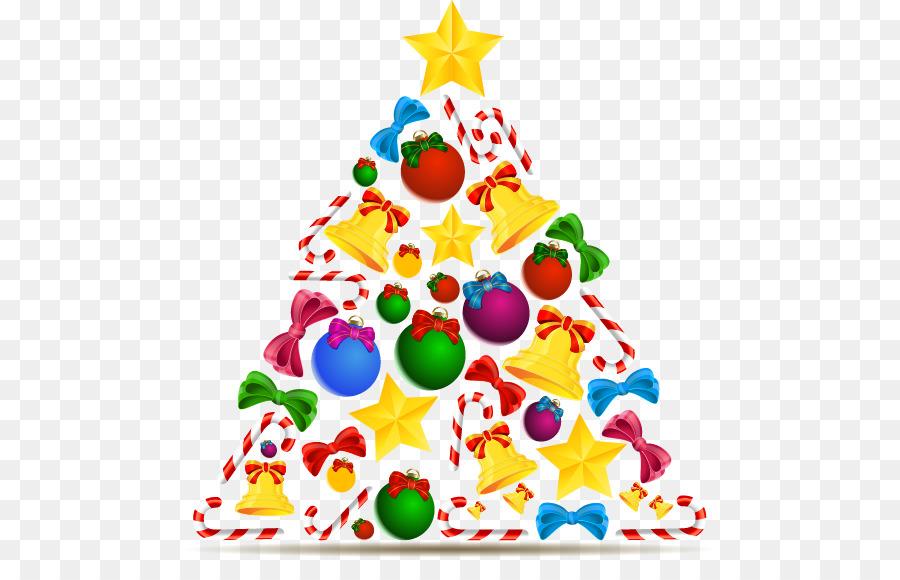candy cane christmas tree drawing vector cartoon christmas star ball crutch