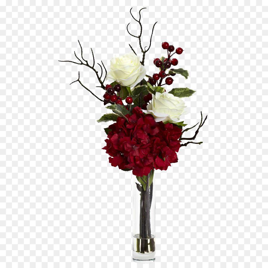 Table Flowers Christmas Hydrangea Artificial flower - Wedding table ...