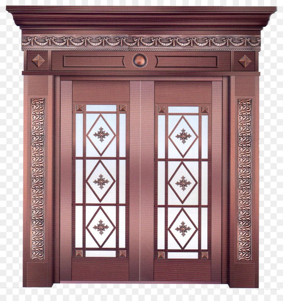 Linqu County Door Glass Business Copper Red Door Png Download