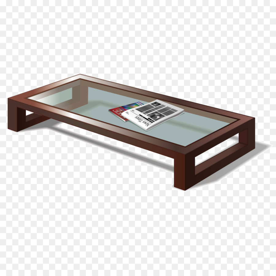 Living room Furniture Bedroom - Vector short coffee table png ...