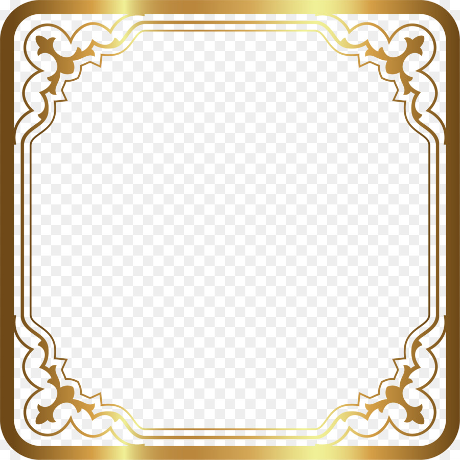Luxury gold border png download - 2001*2001 - Free ...