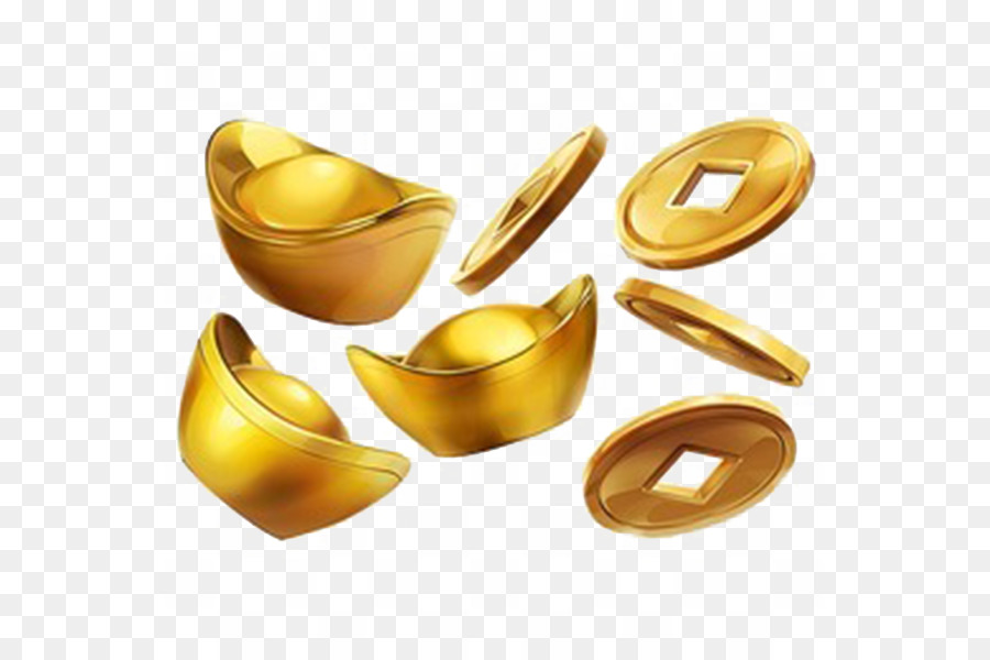 China Sycee Coin Currency Ilration Gold Ingots Were