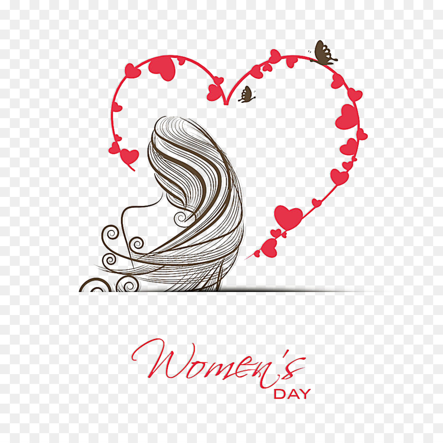 International Womens Day March 8 Valentines Day Greeting Card