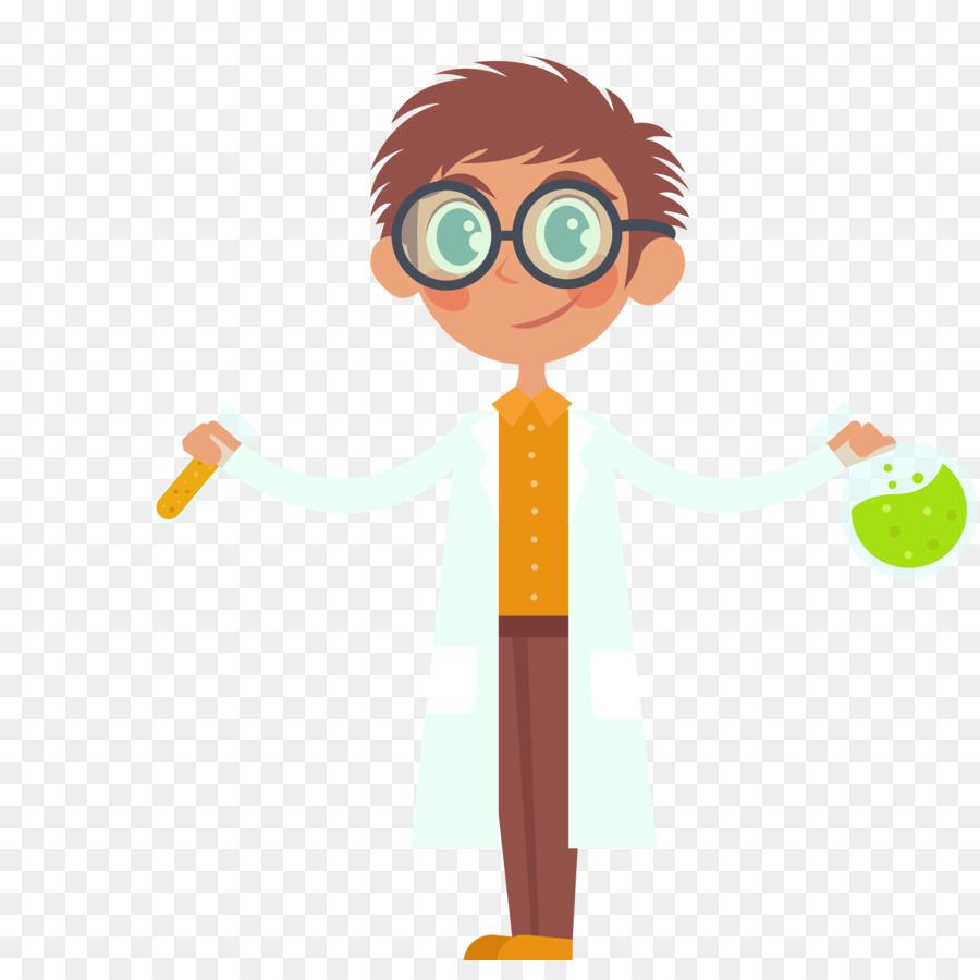 Experiment Scientist Laboratory Science - Vector color cartoon ...