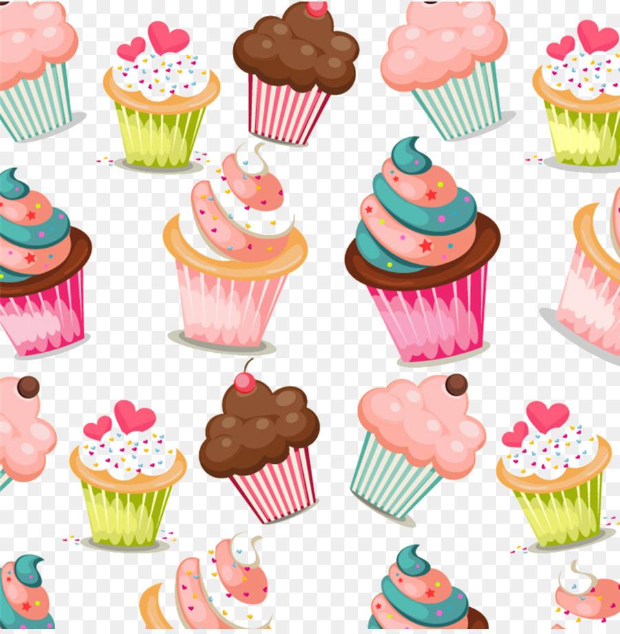 Cupcake Muffin Birthday Cake Pattern Cake Png Download 980994