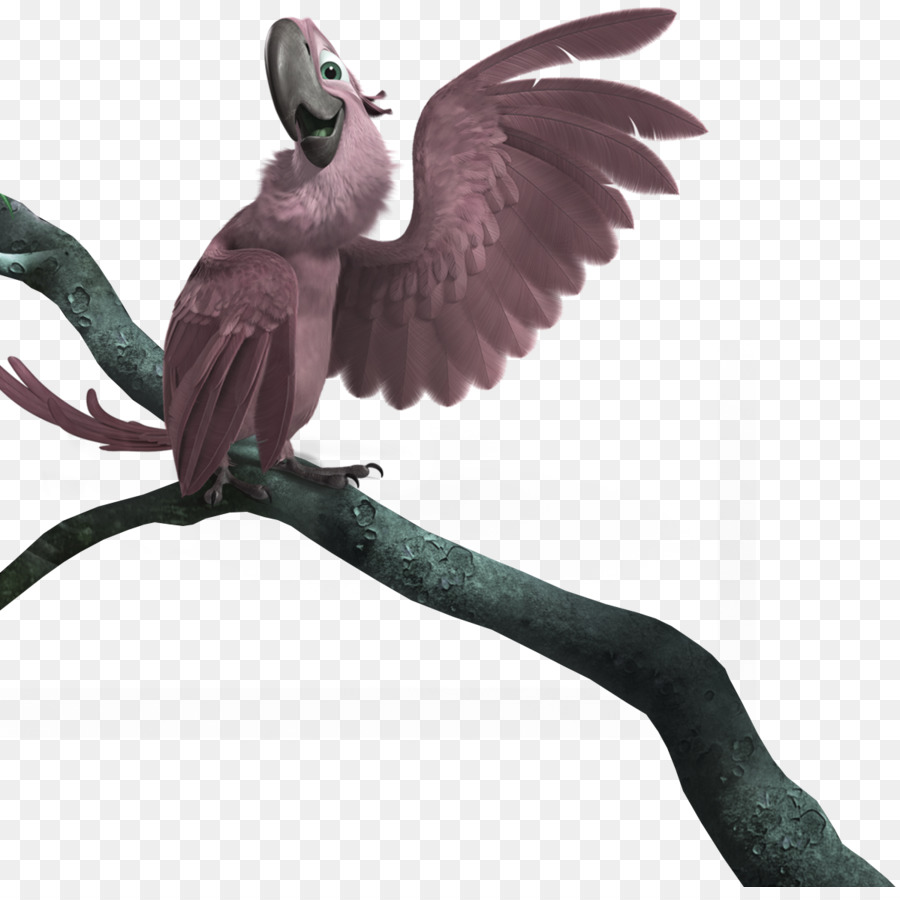 blu linda rio icon - lavender cartoon parrot tree decorative pattern
