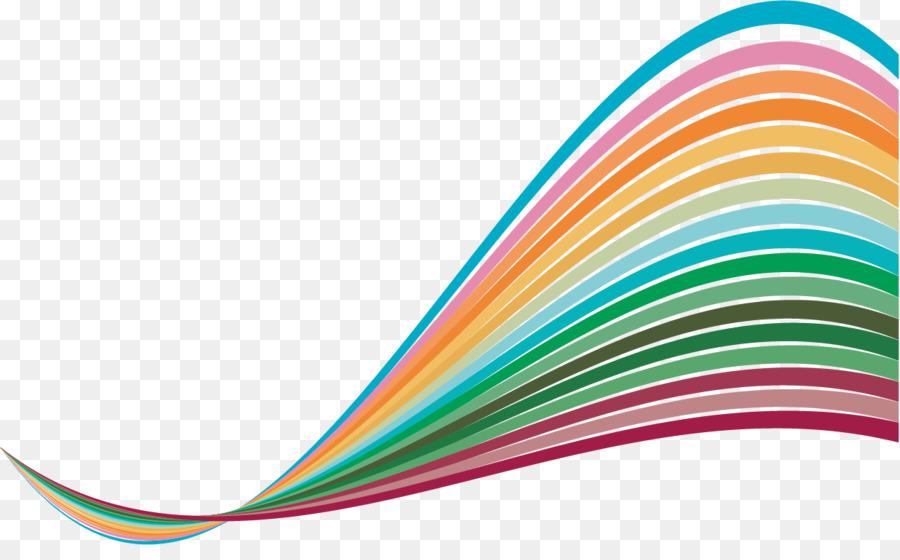 Line Color Abstract art Euclidean vector - Colored cartoon lines ...