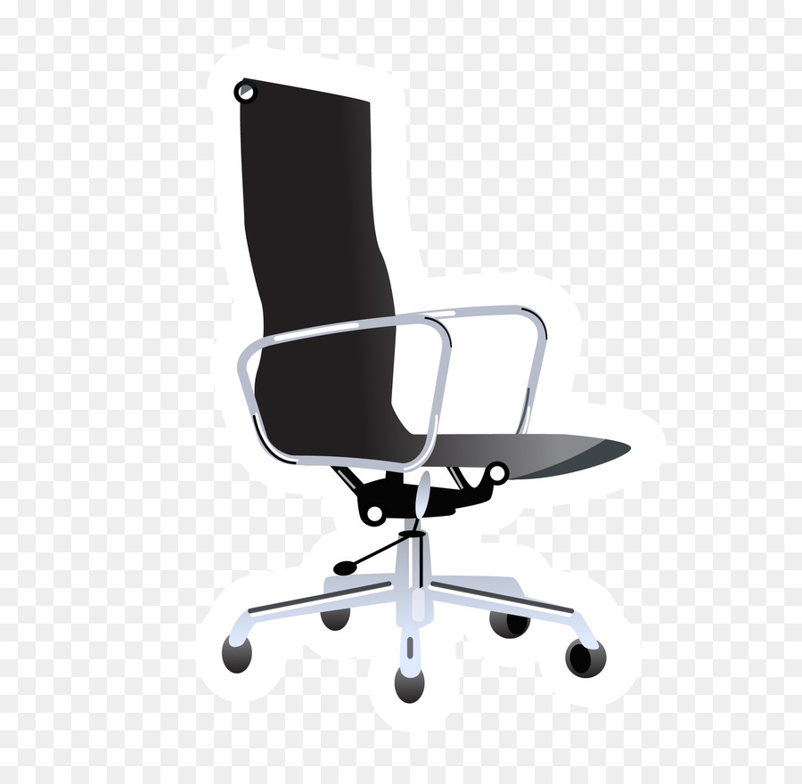 Bürostuhl clipart  Büro-Stuhl-Möbel-clipart - Vektor-schwarz Bürostuhl png ...