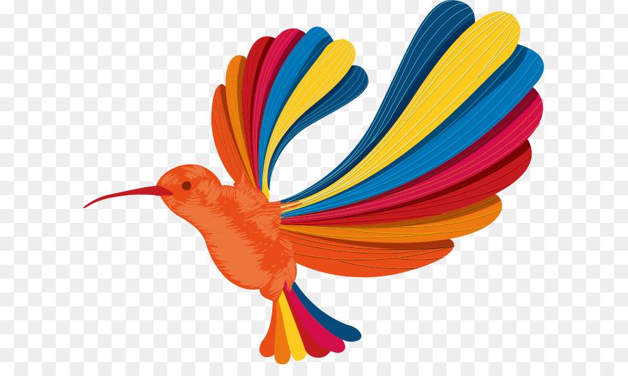 Hummingbird Euclidean Vector Rainbow Color