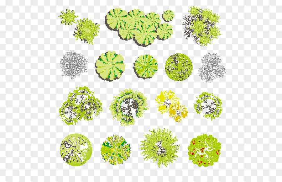 Tree Landscape Euclidean Vector Illustration Landscape Design