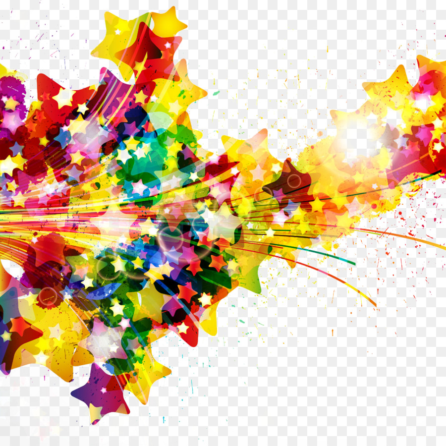 Watercolor painting Splash Abstract art - Colored road png download ...