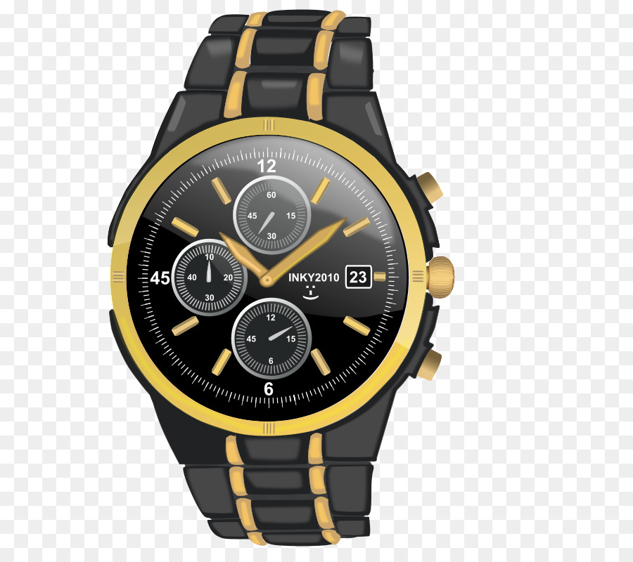Watch rolex clip art black yellow cartoon watches png download 745 800 free transparent for Cartoon watches