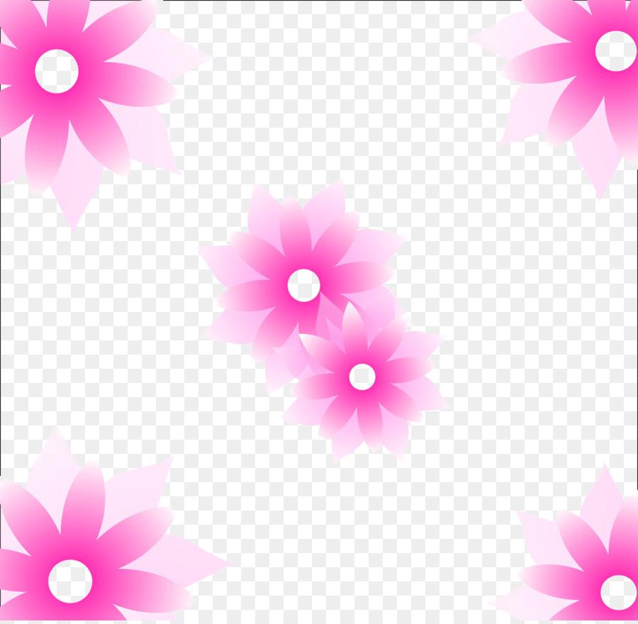 Pink Flower Wallpaper Hand Painted Lotus Png Download 1024996