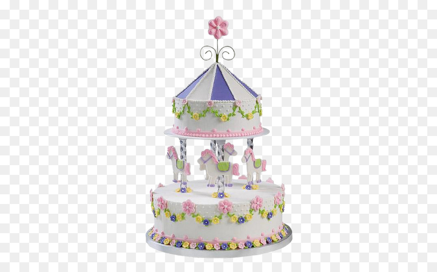 Torte Birthday Cake Icing Carousel Amusement Park Cake Png