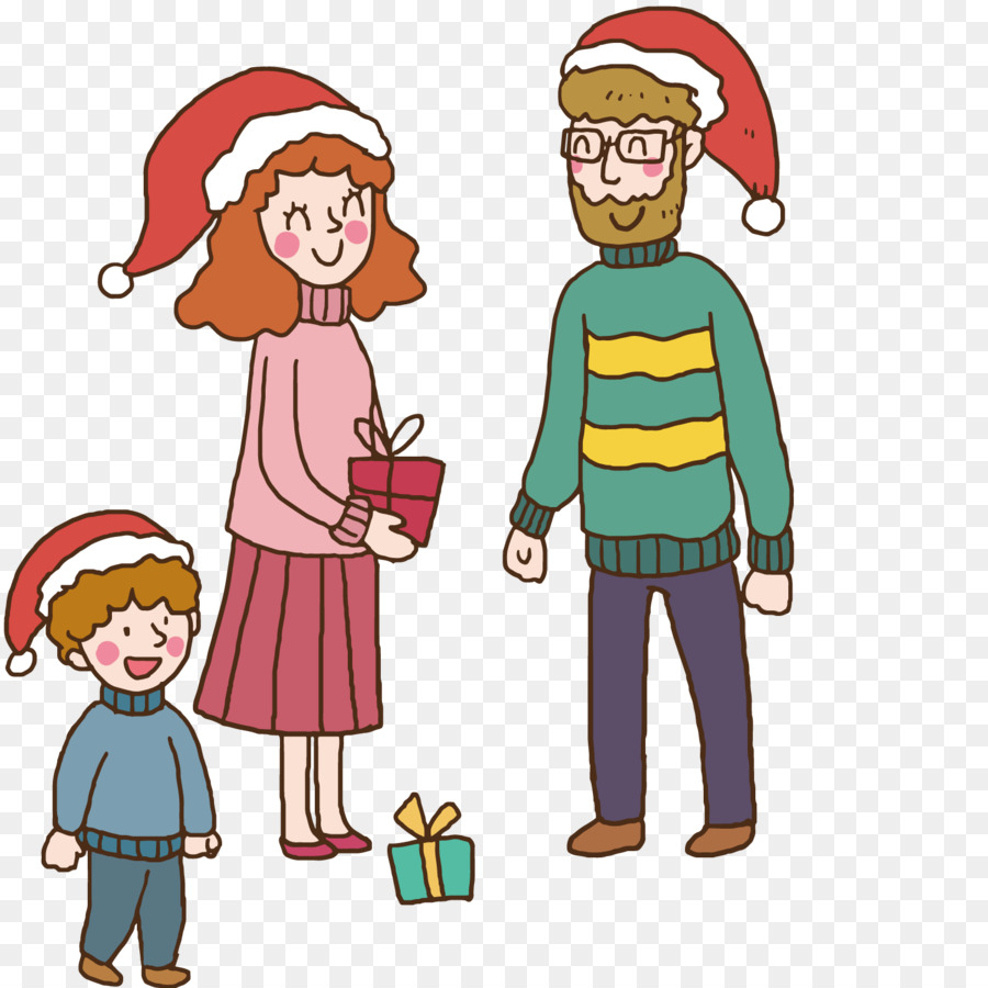 Christmas gift giving clipart images