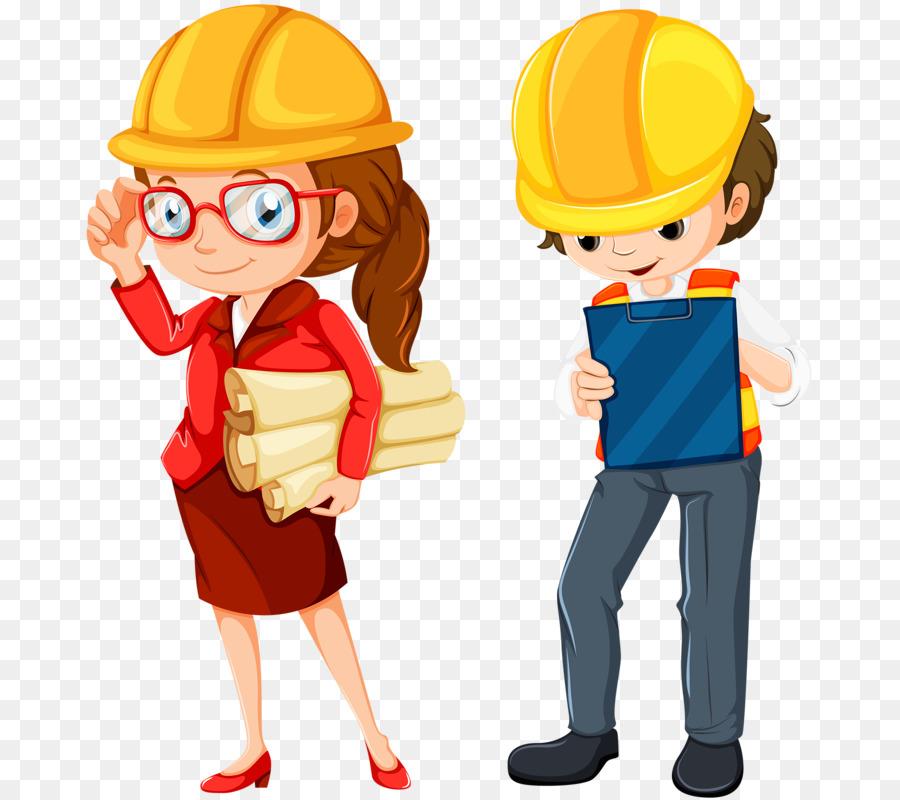 Engineering Royalty Free Cartoon Clip Art Two Engineers