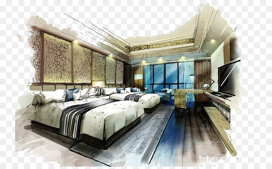 Marker Pen Bedroom Interior Design Services House Painter And Decorator Living Room The Hotel Png 800 552 Free Transpa