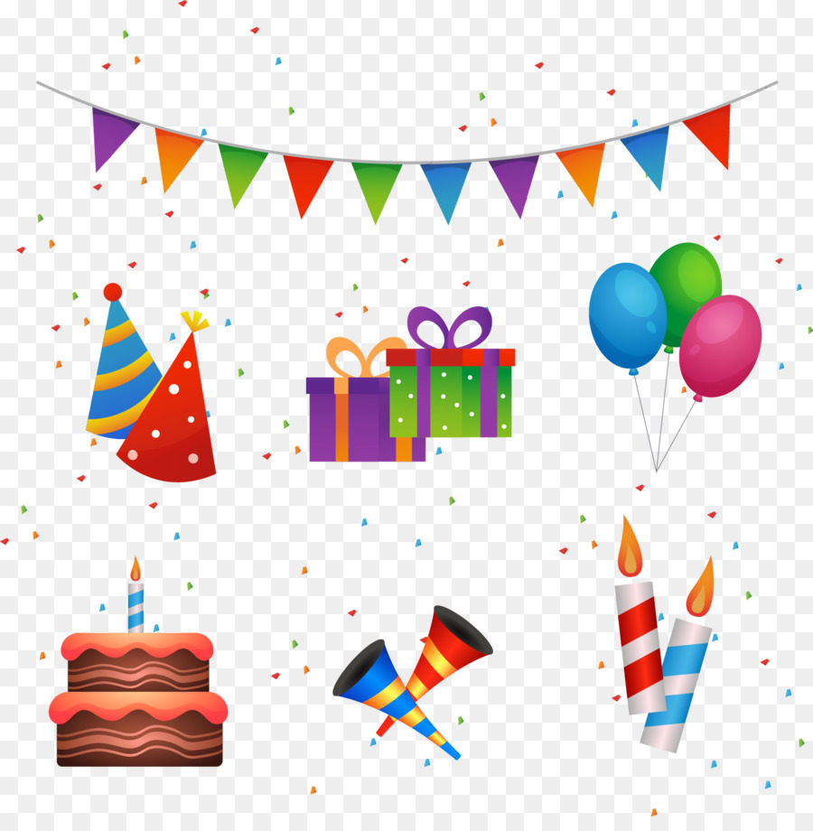 Birthday Cake Happy Birthday To You Party Vector Hand