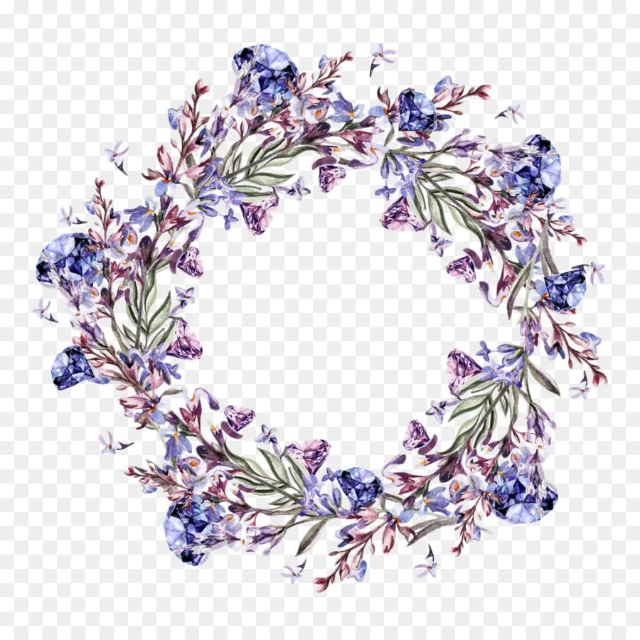 watercolor painting flower lavender illustration purple