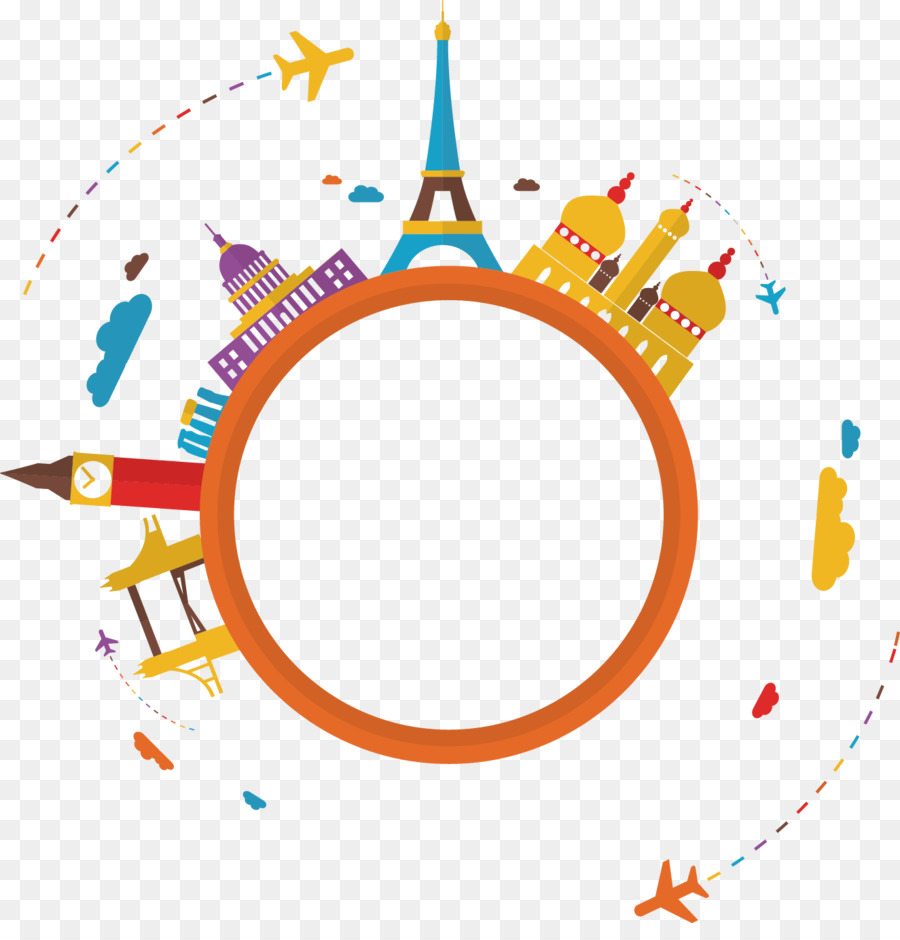 World Travel Clip Art Round Vector Elements Aircraft Png 1325 1359 Transprent Png Free