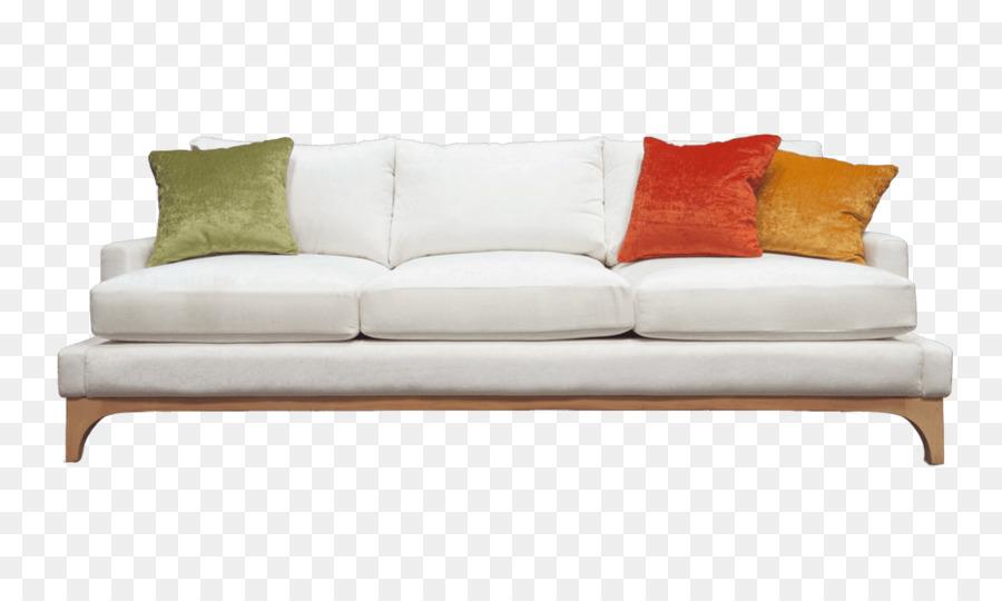 Couch Furniture Divan Chair   White Fabric Sofa