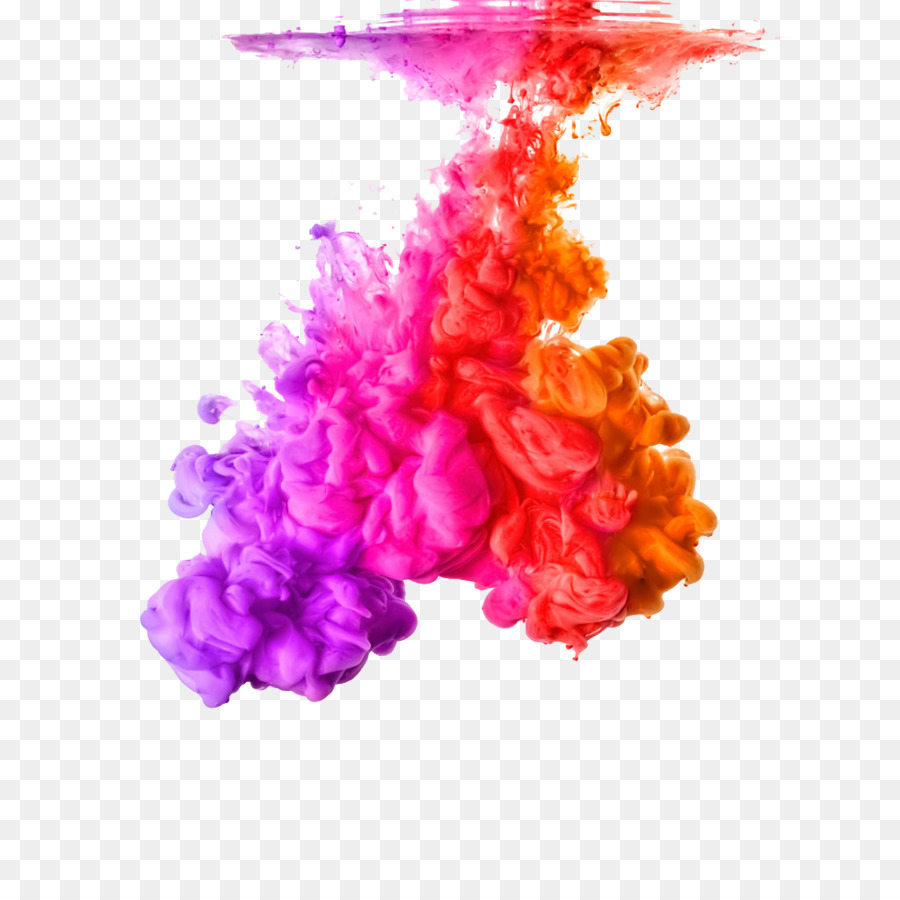 Acrylic paint Color Ink Stock photography Rainbow - Water Shen Mo ...