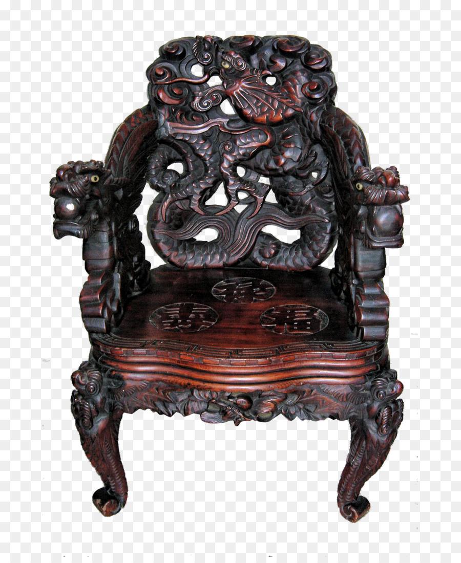 Japan Meiji Period Dragon Art Nouveau Art Deco   Continental Retro Furniture  Chairs Physical Picture