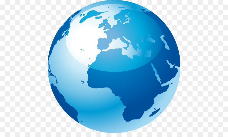 Globe World Map Color Earth Png Download Free - World map in blue color