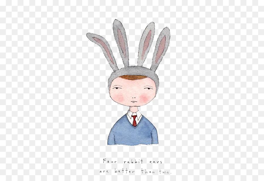 Tavşan Boyama Kulak Resimde Suluboya çizim Karikatür çocuk 470612