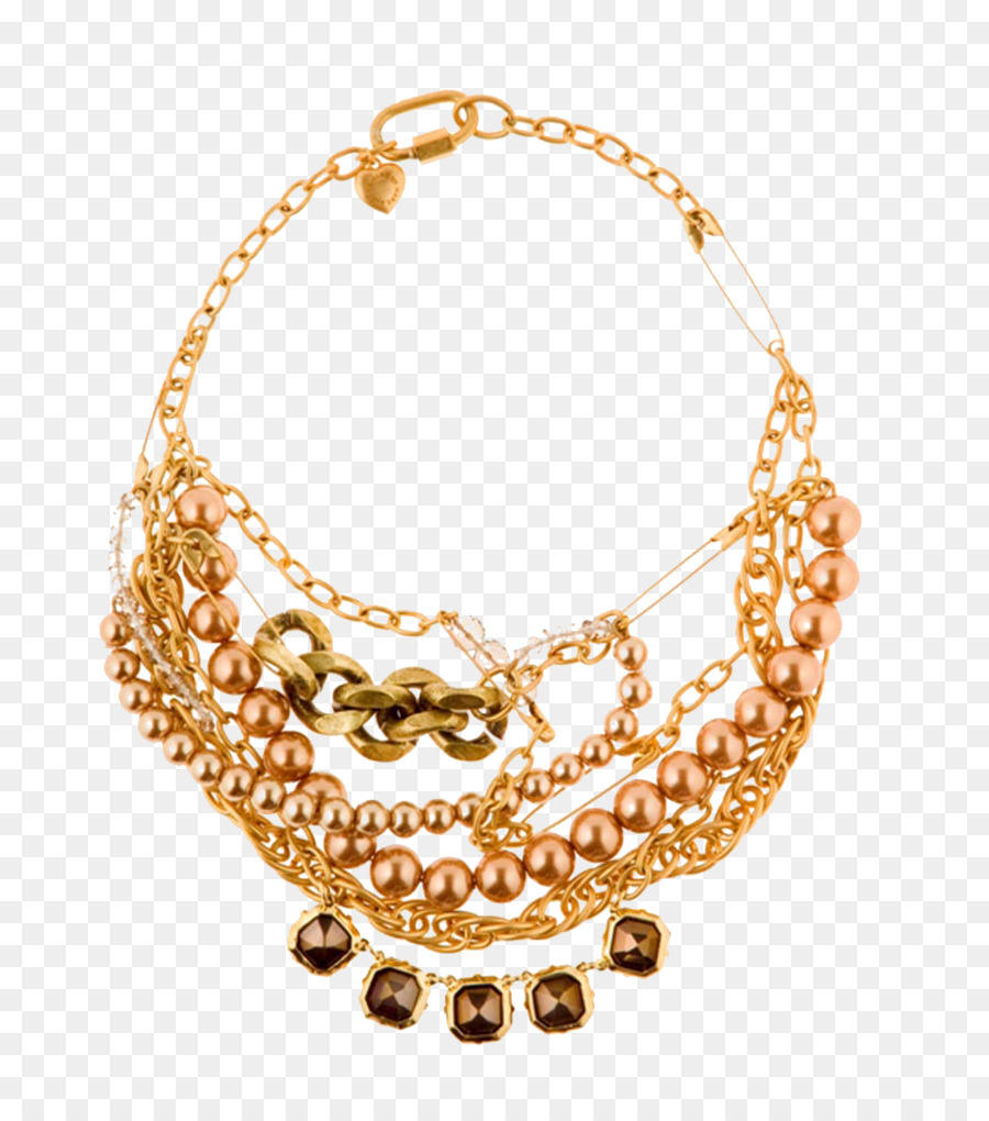 Necklace Gold Designer Jewellery Gold necklace material png