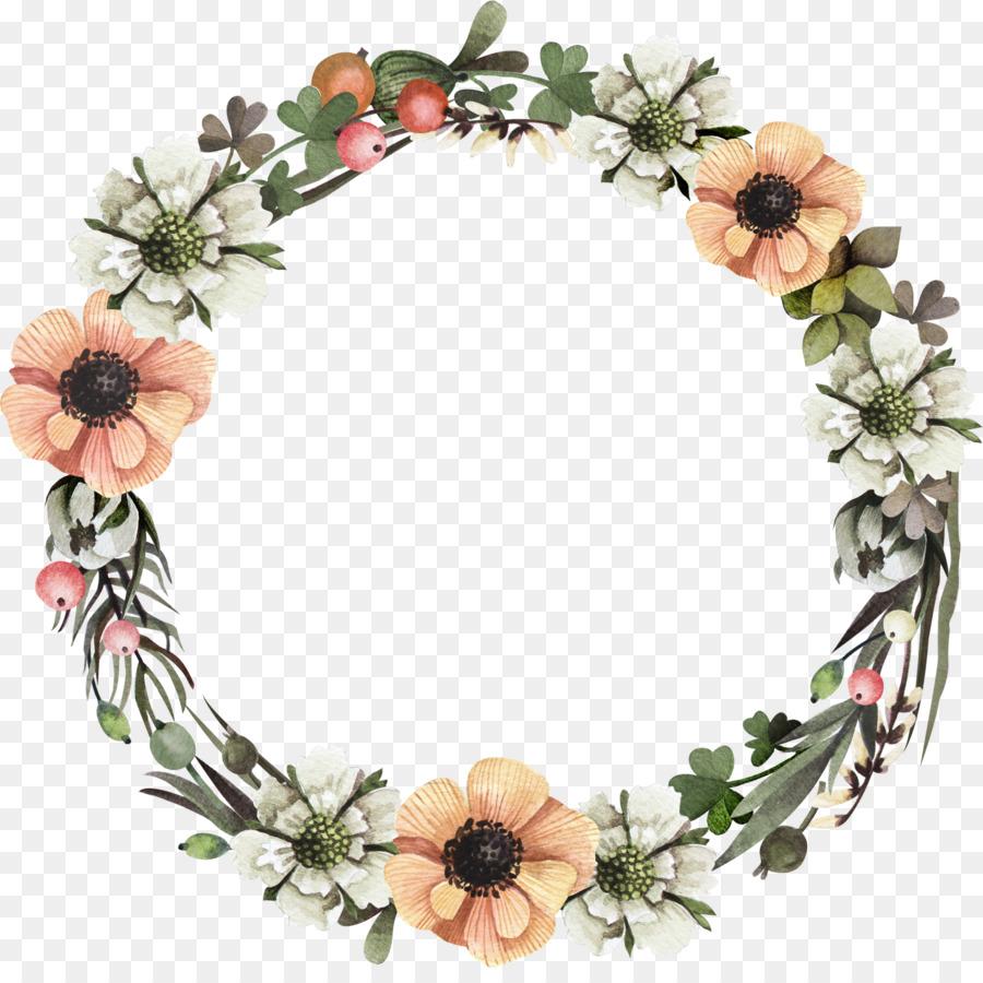 Floral Wreath Frame Png Download 21142082 Free
