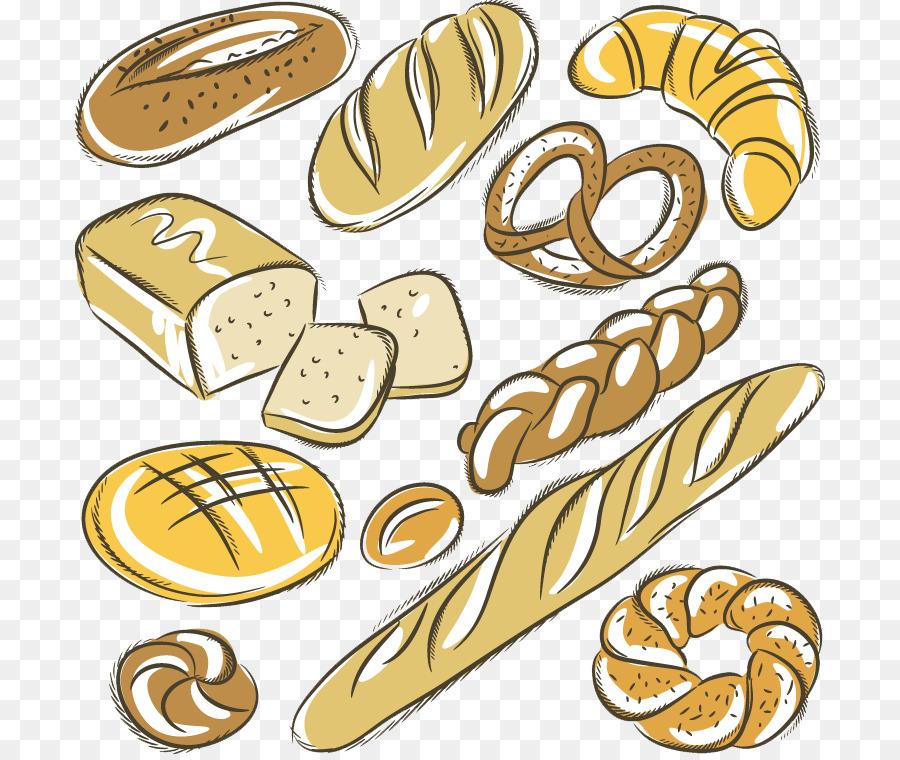 Bakery Baguette Croissant Rye Bread Drawing