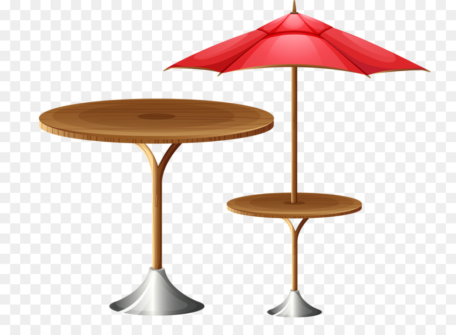 Table Umbrella Stock Photography Illustration   High Round Table And  Umbrella
