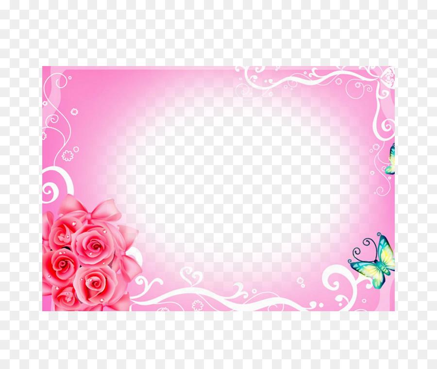 Beach rose Picture frame Download - Pink Rose Frame png download ...